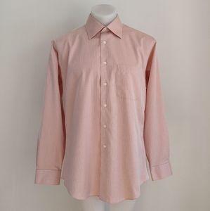 EGARA Non-Iron Slim Fit Shirt, Orange, 16.5